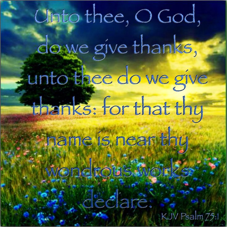 KJV Bible Verse - Psalm 75:1