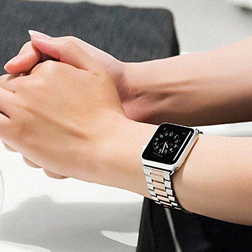 Apple 38mm/ 42mm Watch accessories/ I Watch/ IWatch Band, I Watch Strap, IWatch Metallic Chain, IWatch Buckle Wrist Band for Apple Watch (Half Gold 38mm)