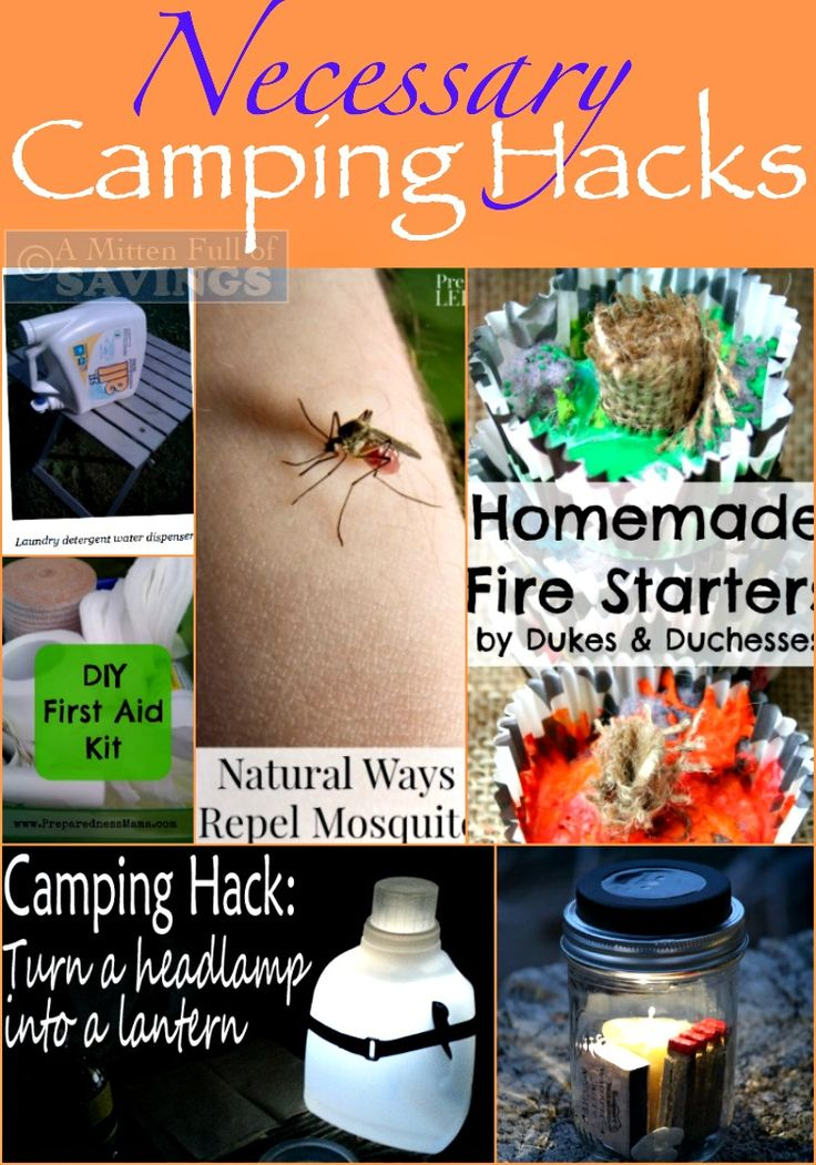 Necessary camping hacks Great Camping Tips to check out before your next #campingtrip #camping #hacks