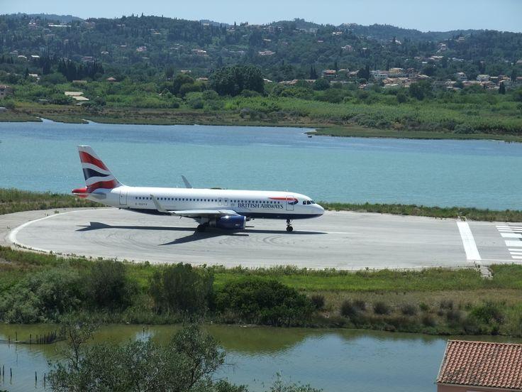 Greece. Corfu. Runway.