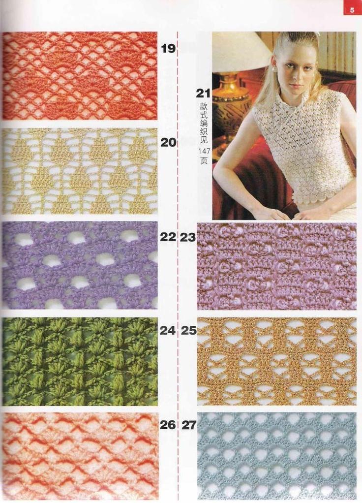 22 best images about distintos puntos crochet on pinterest - Puntos crochet trapillo ...