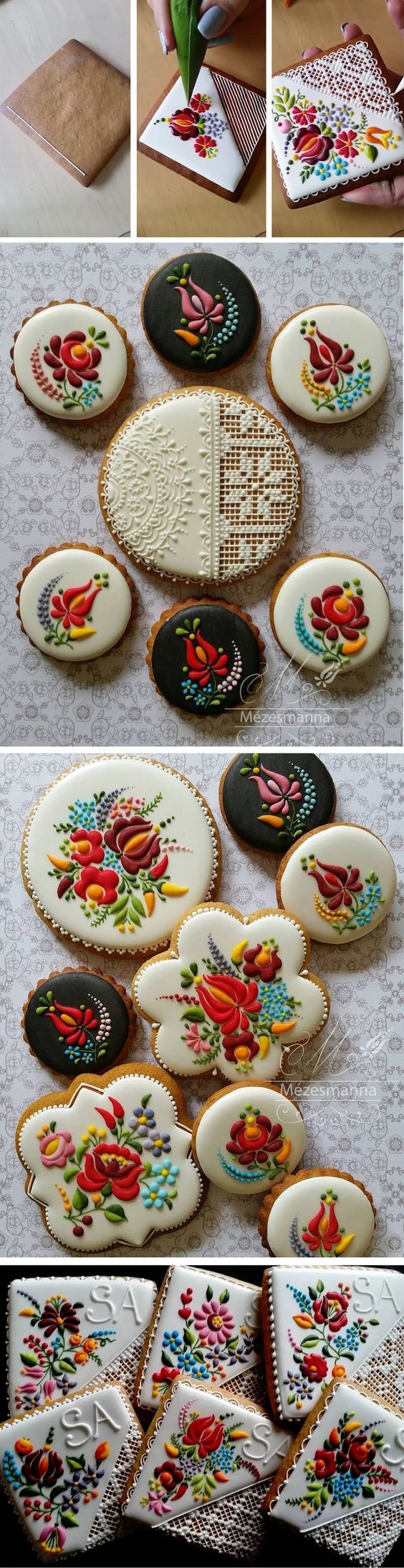 So inspired by these beautifully embroidered cookies! Mézesmanna totally takes cookie decorating to another level.: