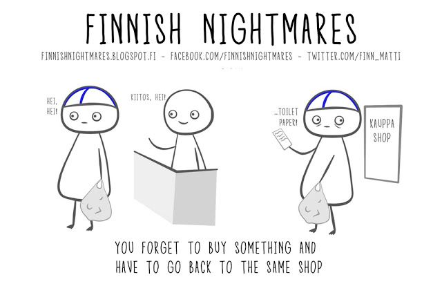 "As a ""Finntrovert"" I can relate!  Finnish Nightmares"