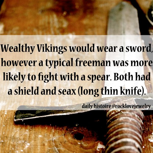 "Vikings carried seax utility knives; the ""Saxons"" tribal name derives from their use of ""seax"" style swords."