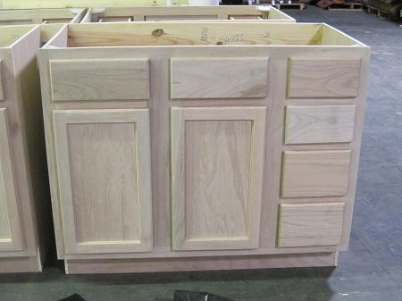 Surplus building materials unfinished bathroom vanity sink and drawer base cabinet 42 212 for Unfinished bathroom vanities and cabinets