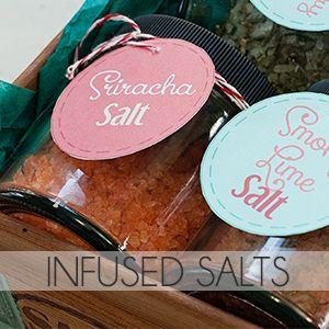 DIY Gifts: Seasoned Salt Pack (+Printables) - Includes Recipes for Four (4) Salts: Sriracha Salt, Smoky Lime Salt, Sage Salt & Rosemary/Thyme Salt.