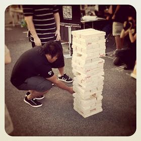 RETHINKING YOUTH MINISTRY: Great Youth Ministry Idea: Giant Block-Stacking Game