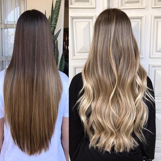 Modische Haarfarbe 2019 für langes Haar: Grundlegende Trends und Trends auf dem…