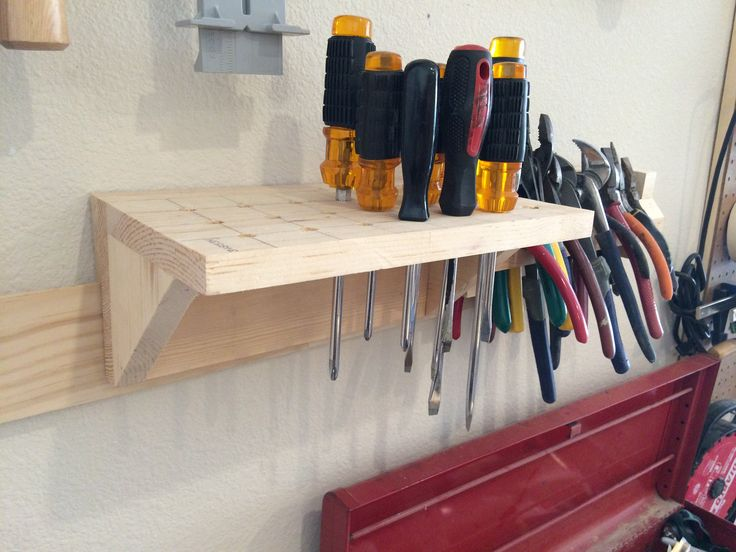 French cleat screwdriver holder Wall storage, Wall tool