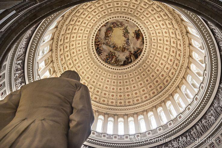 The Rotunda inside the Library of the Congress, Washington DC