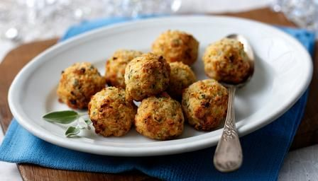 Sage and onion stuffing balls - Great with Christmas dinner. You can cheat and get the packet mix (Giant Eagle has had it now and then)