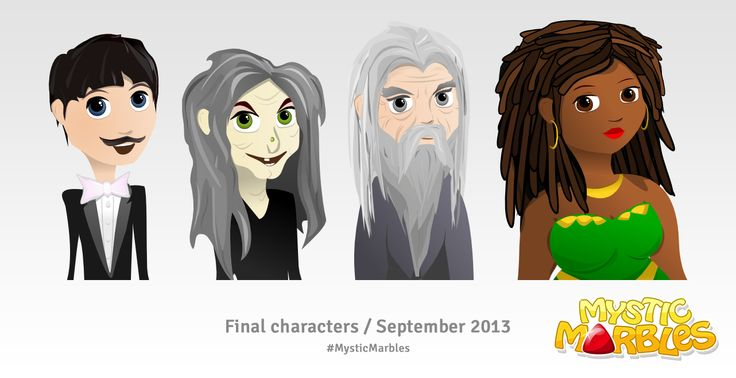 Final magician characters for Mystic Marbles. #MysticMarbles #iPhone #iPad #Android #Game
