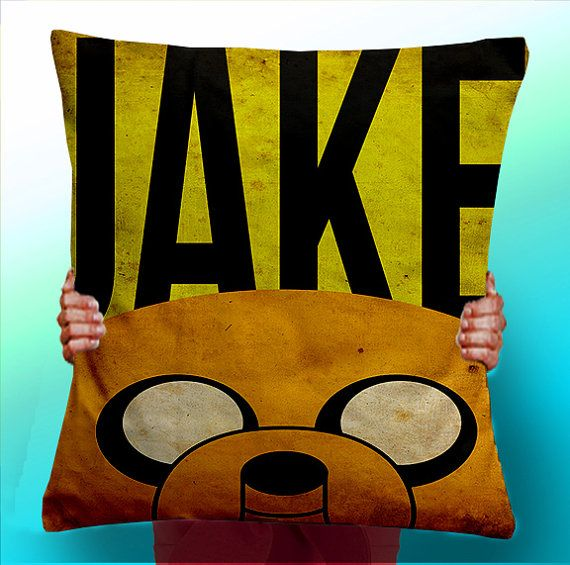 Adventure Time Jake The Dog Face  Cushion / by ThisShopReallyRocks, £5.00