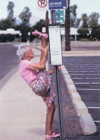 Work! Girl, when you gotta stretch, you gotta stretch!