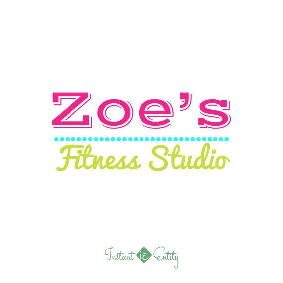 Premade Logo Design  Fitness Studio  Bright by InstantEntity