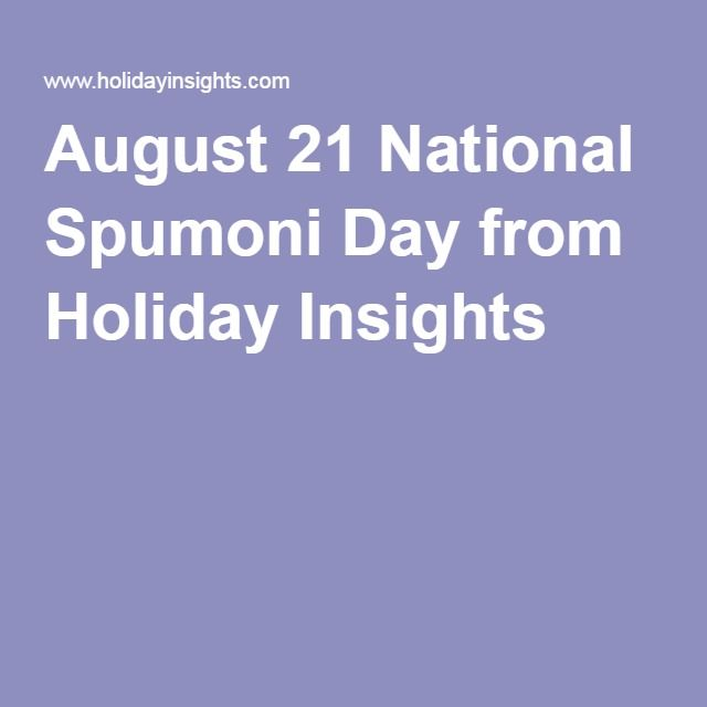 August 21 National Spumoni Day from Holiday Insights