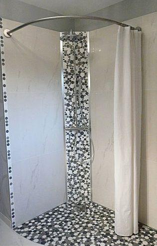 Les 20 meilleures id es de la cat gorie barre rideau de douche sur pinterest - Douche italienne originale ...