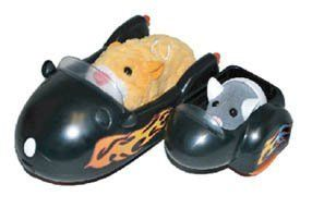 Zhu Zhu Pets Vehicle Playset Hamcycle Sidecar by Cepia LLC. $12.95. Zhu Zhu Pets toy hamster vehicle. Includes a motorcycle vehicle for Zhu Zhu pets(sold separately) to push. Age 4+. Hamsters NOT included. Watch in amazement as your Zhu Zhu Pets Hamster(sold separately) zooms around in the super cool Hamcycle.  Motorcycle has a removable side car, perfect for a Hamster Baby! (All hamsters sold separately)  Age 4+