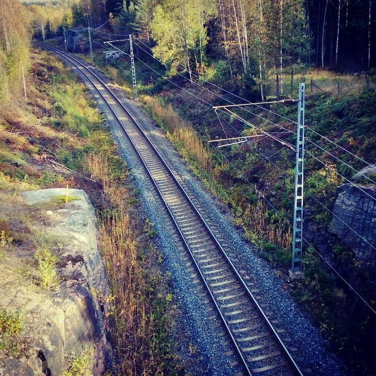 Nature and railway in Finland