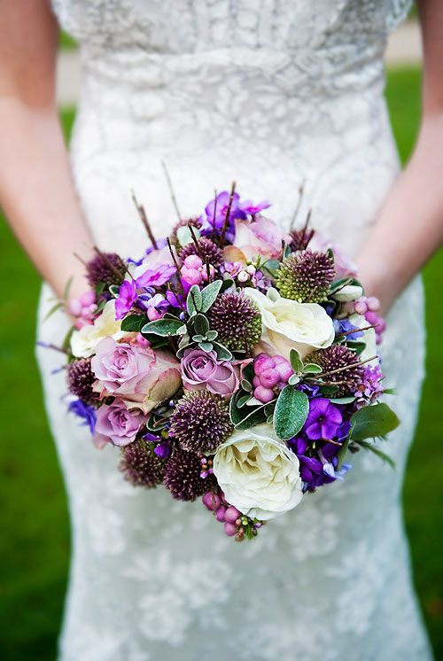 Purple bridal bouquet created by Senses Floral Design and photographed by Juliet McKee... FOR THE BRIDEMAIDS