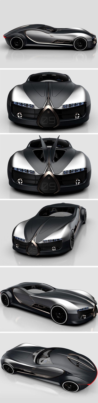 Der Bugatti Type 57T hat offiziell unsere Herzen erobert! Dieses von Arthur B. Nustas entworfene Konzeptauto belebt das klassische Vintage-Coupé vom Typ 57T ...