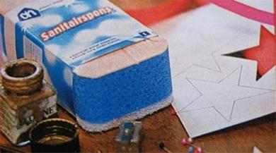 Zelf stempel maken van sanitairspons