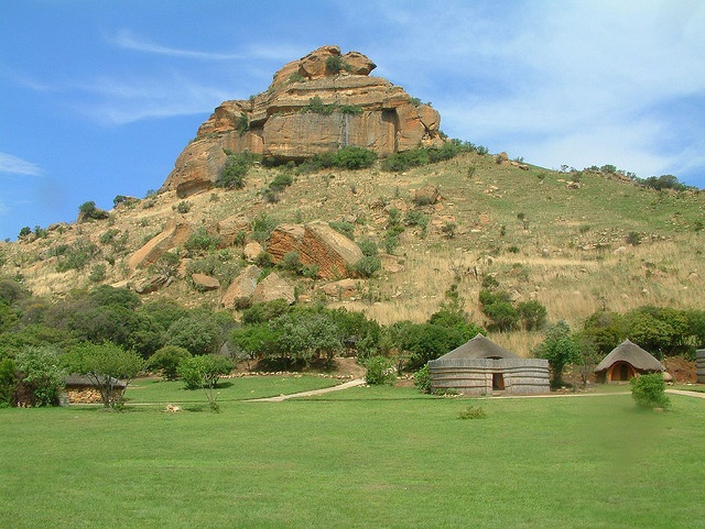 Basotho Cultural village in the Free State province in the heart of  South Africa. This friendly village lies in the scenic Qwa-Qwa  National Park in an area rich in natural beauty
