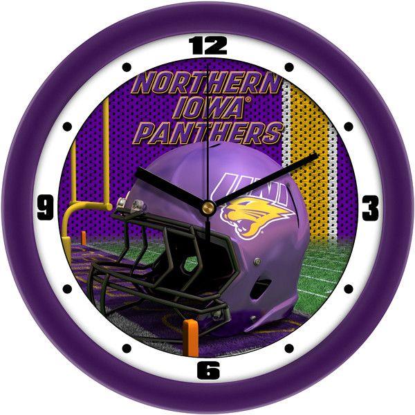 Northern Iowa Panthers - Football Helmet Wall Clock