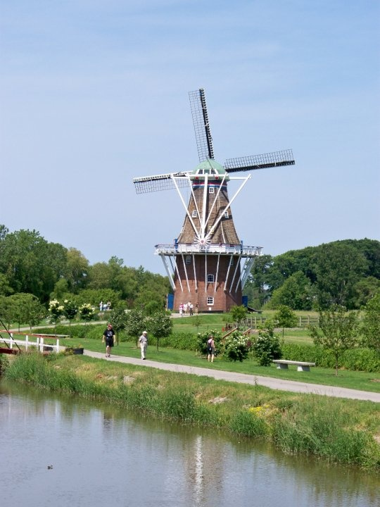 Holland, MI  -The only authentic Dutch working windmill in the US.