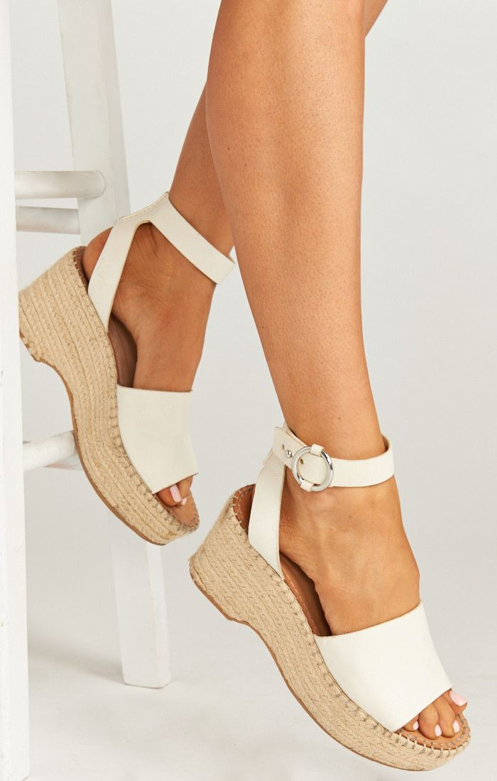 c7149cb6ab56 Dolce Vita ~ Lesley Wedges ~ White in 2019
