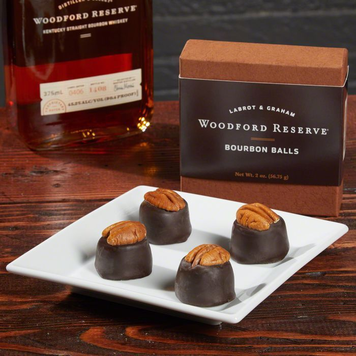 These bourbon balls from Woodford reserve are amazing! Made of chocolate with pecans and of course Woodford reserve whiskey! The make an awesome Christmas, or birthday gift for guy. Woodford Reserve Bourbon Balls.