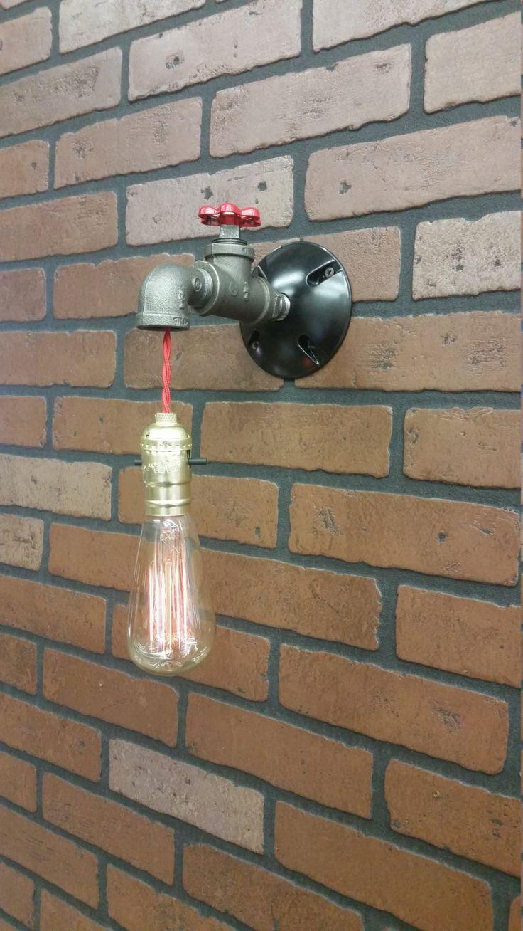 Wall Light - Industrial light - Steampunk Sconce - Steampunk light - Industrial Sconce - Sconce - Lighting - Vanity Light - Bar Light by RuralIndustrial on Etsy