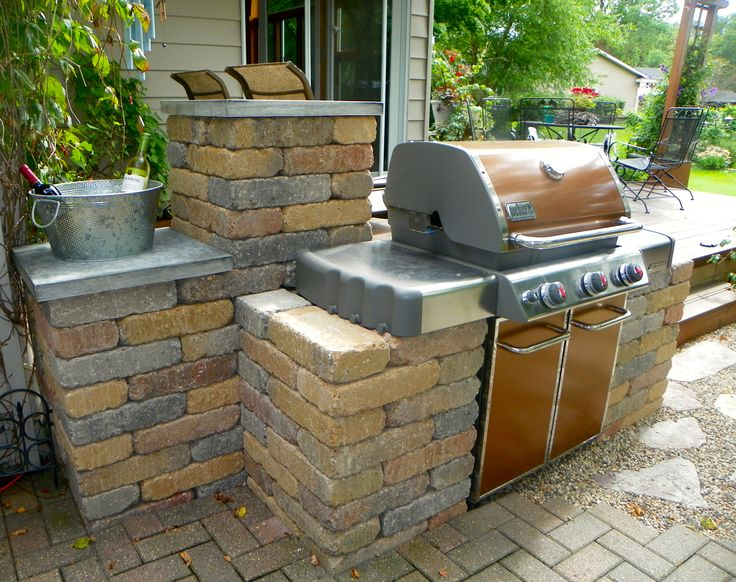 Created a way to take a standard weber grill and make it for Outdoor cooking station ideas