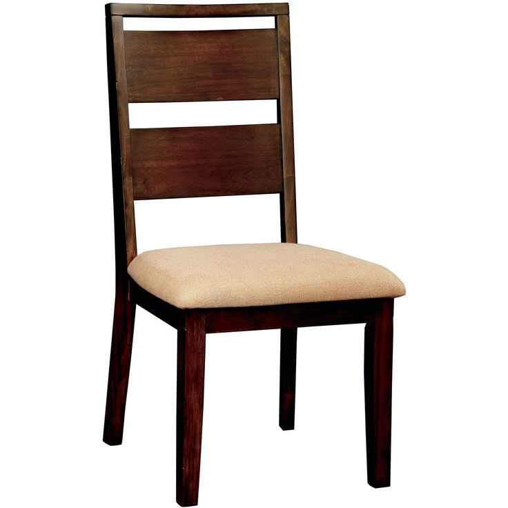 Gretta I Transitional Dining Chair (Set of 2) in Dark Oak