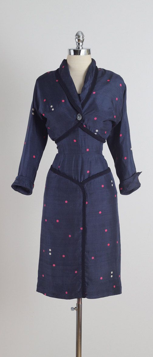 Atomic Dot . vintage 1950s dress . vintage by millstreetvintage