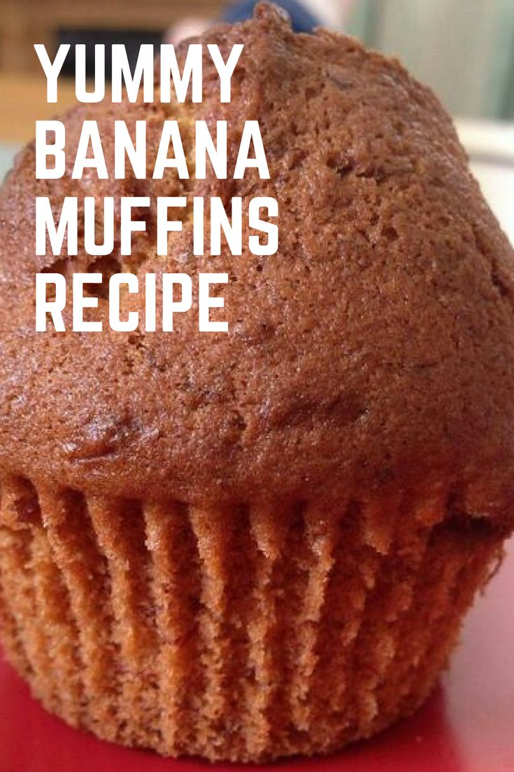 Yummy banana muffins recipe! Easy and fun to make with children