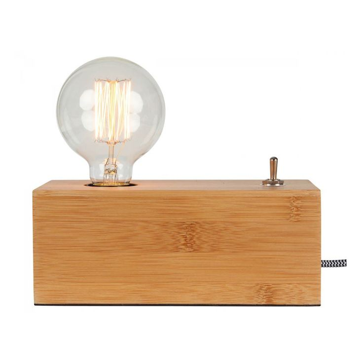 Eureka Wooden Lightbulb 20x9.5cm Natural