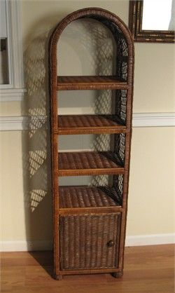 Photo Gallery In Website Wicker bathroom shelf w d h The wicker bathroom shelf stores all your