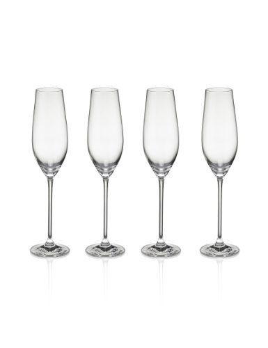 4 Maxim Champagne Flutes-Marks & Spencer