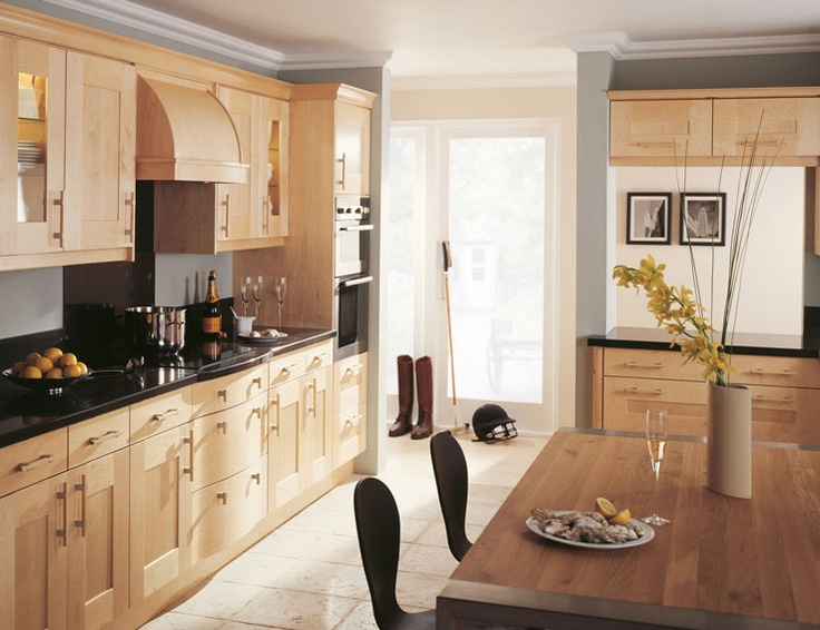 Lansdowne Natural Maple Fitted Kitchen, I Wish.