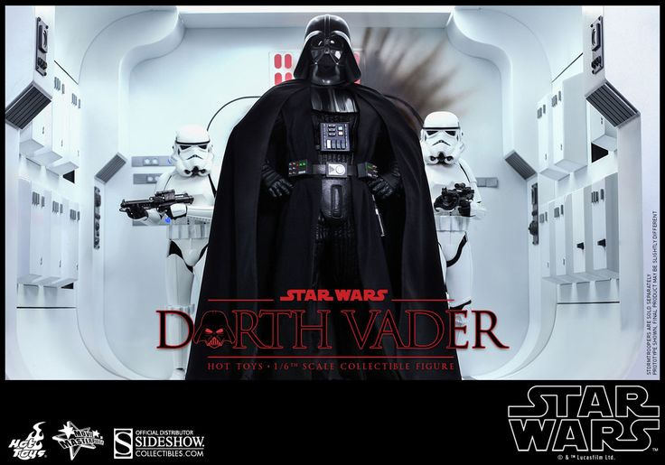 Come to the Dark Side because we have the Darth Vader Sixth-Scale Figure. Standing almost 14-inches-tall, the Dark Lord of the Sith has over 30 points of articulation, features sound effects of Vader's breathing, and comes with a LED-lighted red lightsaber, interchangeable hands, and plenty of ot