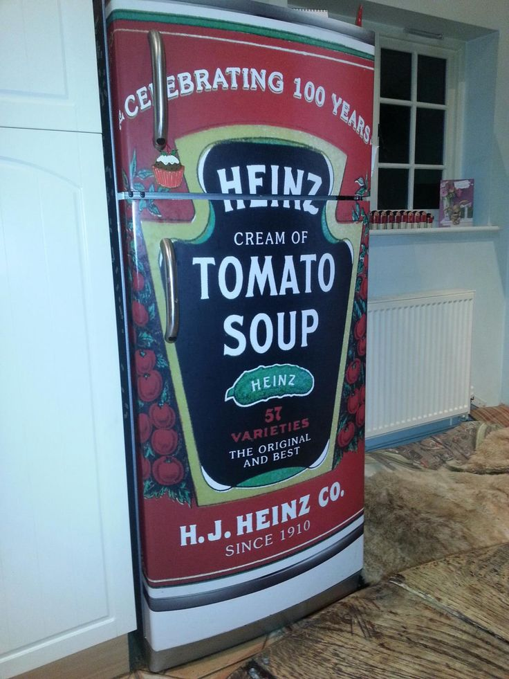 Peckish? Now you can have the world's biggest soup can in your home thanks to the tomato soup #FridgeWrap.