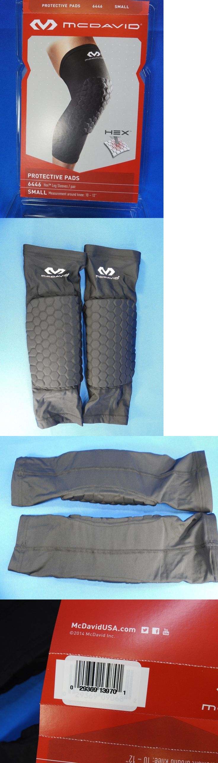 Protective Gear 158969: Mcdavid 6446 Hex Padded Compression Leg Sleeves Pair Black Small 10-12 BUY IT NOW ONLY: $35.0