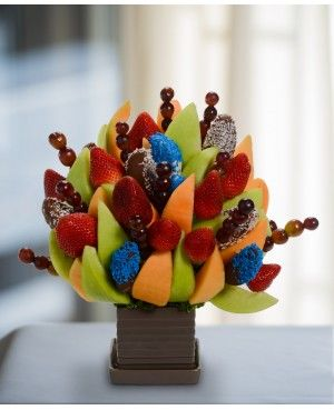His Special Bouquet Blossom scent free fruit bouquet are great for all occasions and make great gifts ideas or decorations from a proud Canadian Company. Great alternative to traditional flowers or fruit baskets