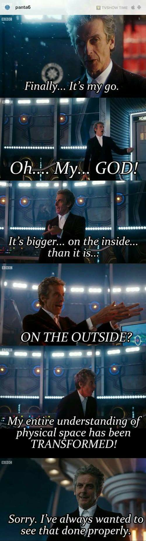 Doctor Who- one of the best scenes ever invented, i love the twelfth doctor