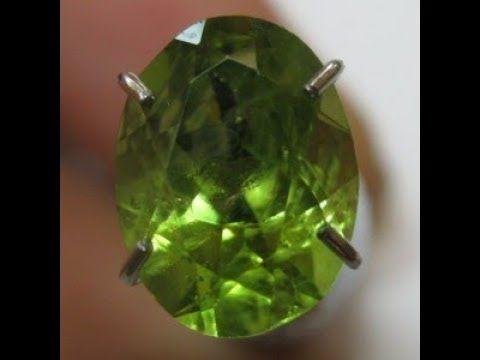 Batu Permata Natural Peridot Hijau Oval 1.35 carat