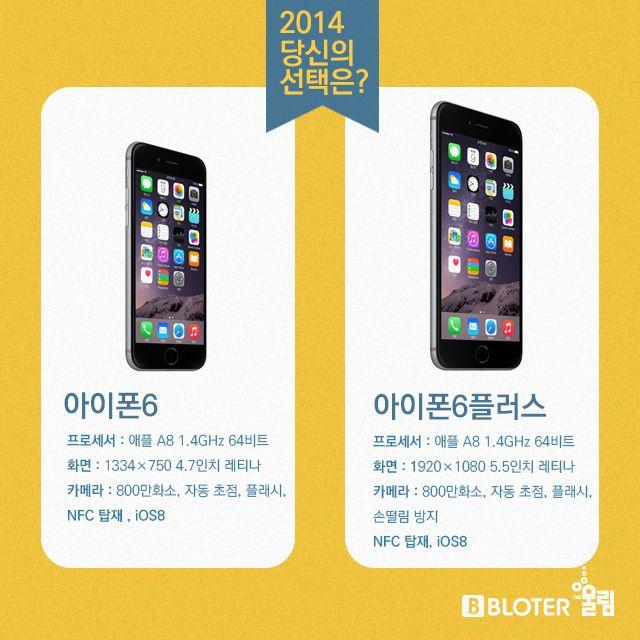 아이폰6 vs 아이폰6플러스