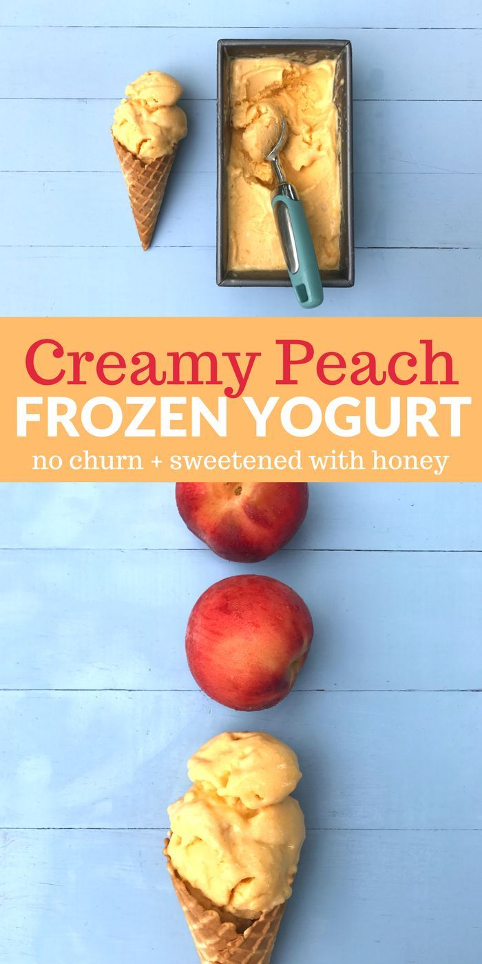 You can enjoy this yummy Peach Frozen Yogurt just as soon as you blend 3 simple ingredients!
