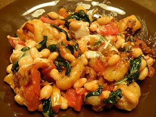 Skillet Gnocchi with White Beans and Spinach -- AMAZING!!