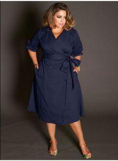 5 beautiful navy blue dresses for curvy women - plus size fashion for women #PlusSizeDressesBlue